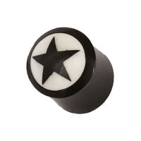 Five Pointed Star Horn And Bone Plug