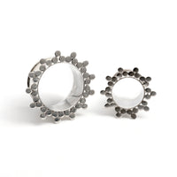 Flower Silver Flesh Tunnel | Tribu Gauges Jewellery