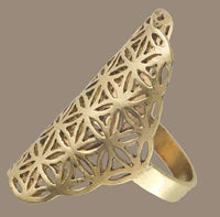 Flower Of Life Ring - Tribu  - 2
