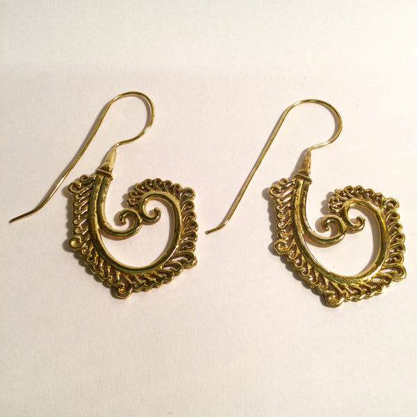 Ethnic Brass Earrings 007
