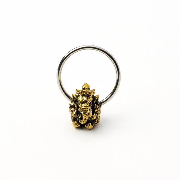 Ganesha Brass and Steel Septum/Tragus/Helix/Cartilage/Nipple
