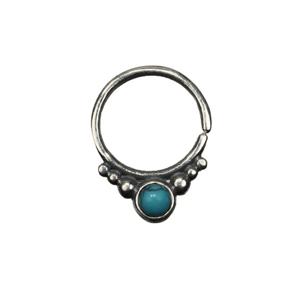 Gita Silver Septum with Turquoise