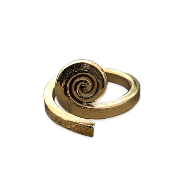 Gold Plated Spiraling Ring
