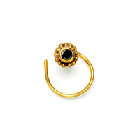 Gold Nose Stud with Black Spinal