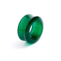 Green Onyx Flesh Tunnel | Tribu Gauges Jewellery