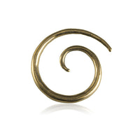 Solid spiral brass hook