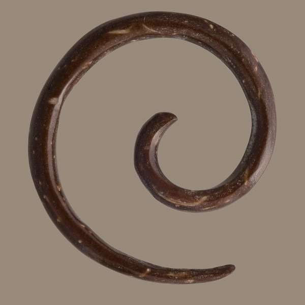 Coconut Spiral 2mm Ear Stretcher - Tribu