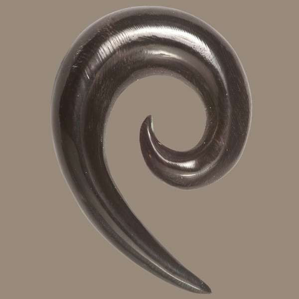 Open Spiral Solid Horn Hook - Tribu