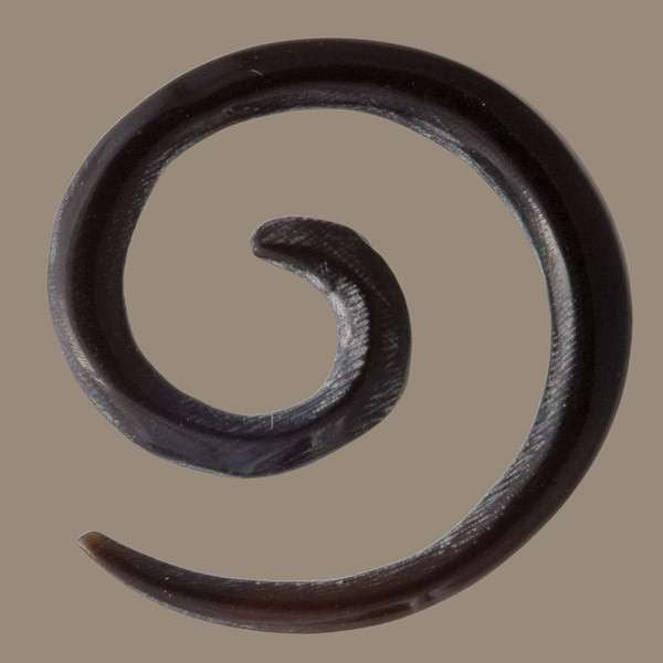 Spiral Black Horn Hook - Tribu