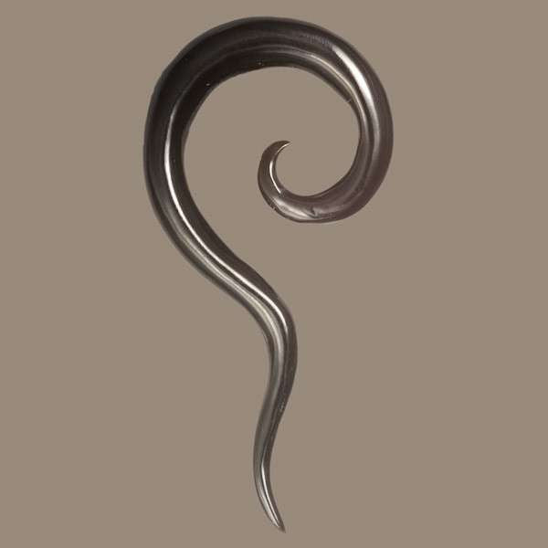 Wavy Horn 2mm Stretcher with Spiral Top - Tribu