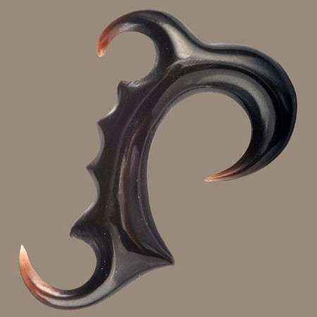 Two Horns Solid Horn Hook  Ear Stretcher - Tribu