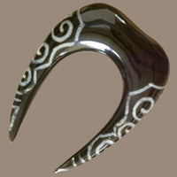 Ear Stretcher with Spiralling Bone Inlays - Tribu