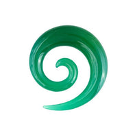 Green Onyx Spiral Ear Stretcher