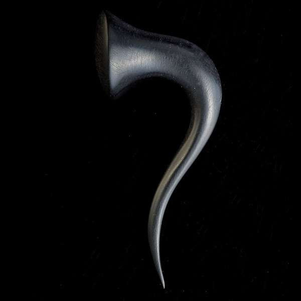 Black Wood Curvy Hook Stretcher - Tribu
