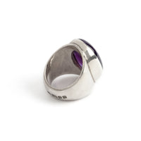 Hallmarked Silver Ring With Amethyst stone