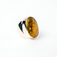 Hallmarked Silver Ring with Jasper