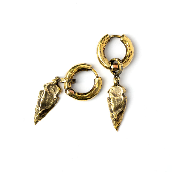 Arrow Head Brass Earrings