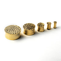 Hammered Brass Plug