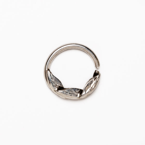 Hammered Silver Septum Ring