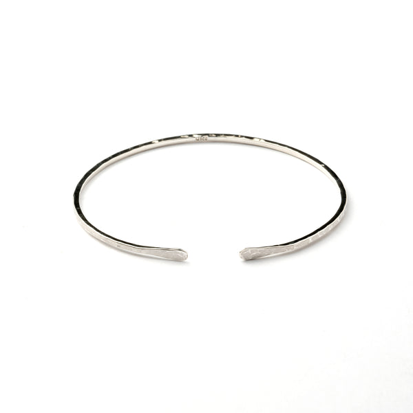 Hammered open bangle