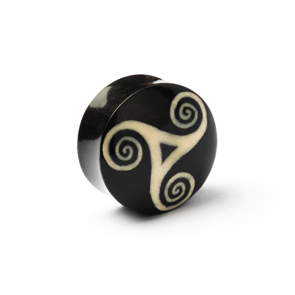 Heddeka Swirl Horn And Bone Plug