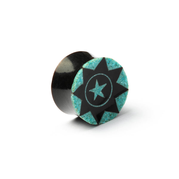 Horn Plug With Turquoise Star