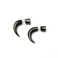 Black Fake Gauge Earring