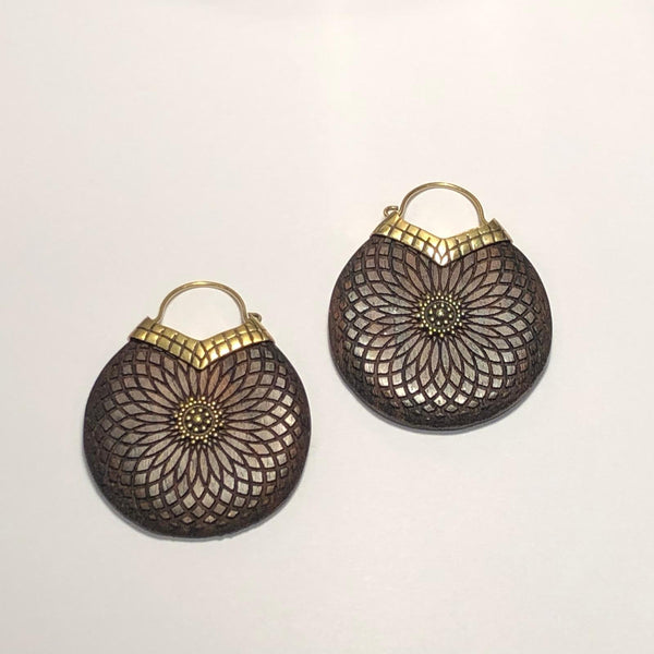 Ebony Flower Earrings