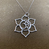 Lotus inspired Ohm pendant
