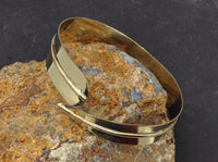 Simple Brass Feather Cuff