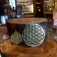 Flower Of Life Brass Pendant