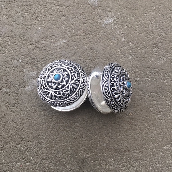 Tibetan styled  Ear Weight with Turquoise