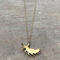 Moose Horn Necklace