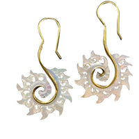 Idris Brass Earrings with Mother of Pearl Shell