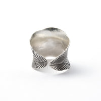 Leaf adjustable Silver Ring