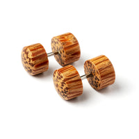 Light Palm Wood Fake Gauge Plug Earring