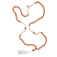 Rudraksha Bead Mala With Brass Skull Charm