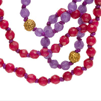 Ruby And Amethyst Stone Mala - Tribu  - 3