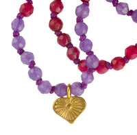 Ruby And Amethyst Stone Mala - Tribu  - 4