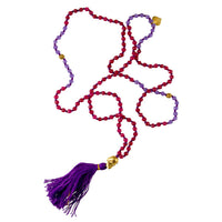 Ruby And Amethyst Stone Mala - Tribu  - 1