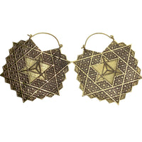 Bronze Merkabah Earrings