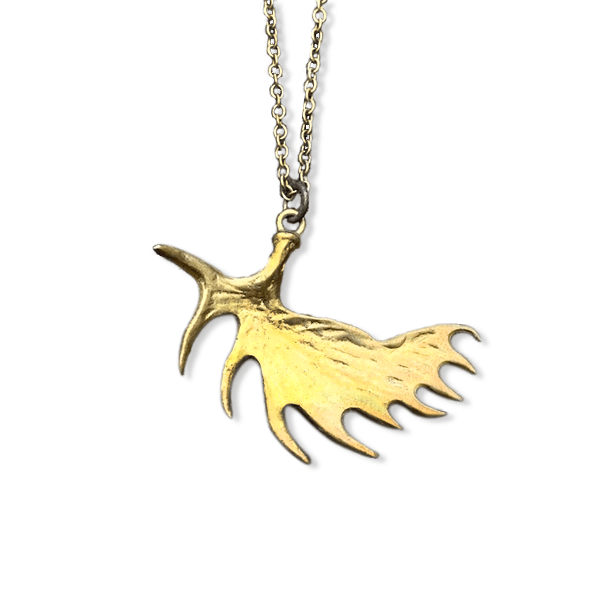 Moose Bronze Necklace