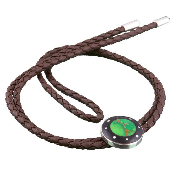 Leather Necklace With Turquoise