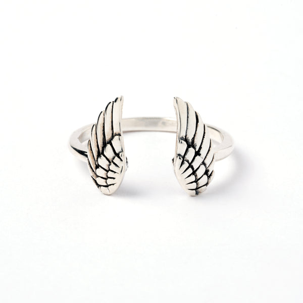 Open Wings Silver Ring