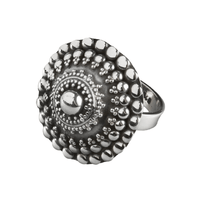 Ornamented Silver Ring