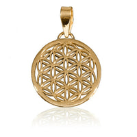 Flower Of Life Brass Pendant - Tribu  - 1