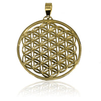 Flower Of Life Brass Pendant - Tribu  - 2
