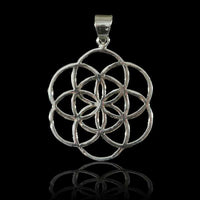 Seed Of Life Silver Pendant - Tribu  - 2