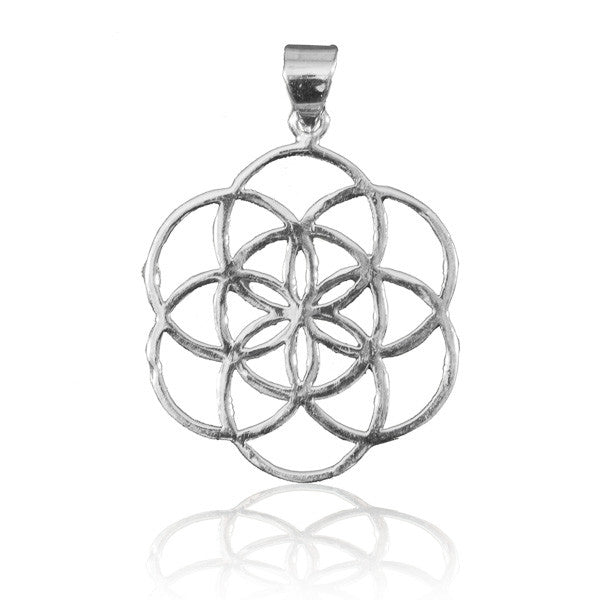 Seed Of Life Silver Pendant - Tribu  - 1