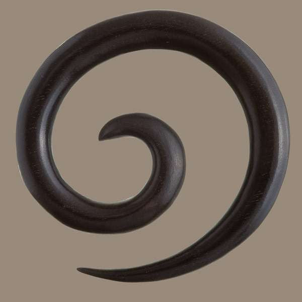 Black Wood Spiral Pendant - Tribu